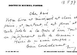 Felicitación del Dr. Pistor